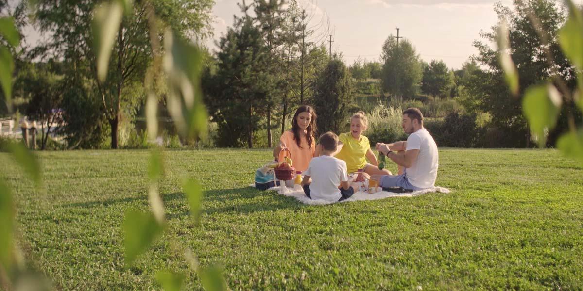 familie fericita in Snagov